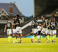 GOAL - Bristol Rovers FC take the lead through Bristol Ellis Harrison during the Carabao Cup match between Fulham and Bristol Rovers at Craven Cottage, London, England on 22 August 2017. Photo by Carlton Myrie.