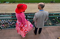 LOUISVILLE, KY - MAY 05: Fans overlook the track on Kentucky Oaks Day at Churchill Downs on May 5, 2017 in Louisville, Kentucky. (Photo by Scott Serio/Eclipse Sportswire/Getty Images)