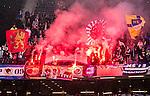 ***BETALBILD***  <br /> Solna 2015-05-10 Fotboll Allsvenskan AIK - IFK Norrk&ouml;ping :  <br /> Norrk&ouml;pings supportrar br&auml;nner bengaliska eldar i Friends Arena inf&ouml;r matchen mellan AIK och IFK Norrk&ouml;ping <br /> (Foto: Kenta J&ouml;nsson) Nyckelord:  AIK Gnaget Friends Arena Allsvenskan IFK Norrk&ouml;ping supporter fans publik supporters bengaler bengaliska eldar r&ouml;k pyro pyroteknik