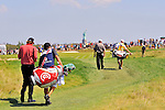 30 August 2009: Steve Marino and Paul Goydos walk to the 2nd green during the final round of The Barclays PGA Playoffs at Liberty National Golf Course in Jersey City, New Jersey.