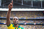 Norwich City 2 Middlesbrough 0, 25/05/2015. Wembley Stadium, Championship Play Off Final. Cameron Jerome of Norwich City celebrates. A match worth £120m to the victors. On the day Norwich City secured an instant return to the Premier League with victory over Middlesbrough in front of 85,656. Photo by Simon Gill.