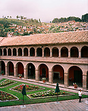 PERU, Cusco, South America, Latin America, high angle view of hotel Monasterio