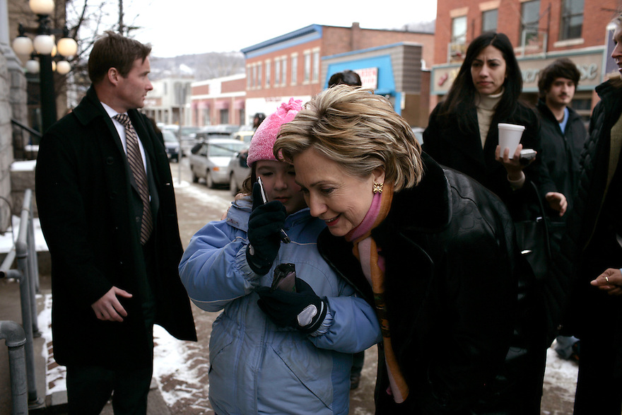 U.S. Senator and Democratic presidential hopeful Hillary Rodham Clinton (D-NY) campaigns in Berlin and Manchester, New Hampshire February 10, 2007.<br /> Photo by Brooks Kraft/Corbis