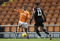 Blackpool's Marc Bola under pressure from Barnsley's Dimitri Cavare<br /> <br /> Photographer Rich Linley/CameraSport<br /> <br /> The EFL Sky Bet League One - Blackpool v Barnsley - Saturday 22nd December 2018 - Bloomfield Road - Blackpool<br /> <br /> World Copyright &copy; 2018 CameraSport. All rights reserved. 43 Linden Ave. Countesthorpe. Leicester. England. LE8 5PG - Tel: +44 (0) 116 277 4147 - admin@camerasport.com - www.camerasport.com