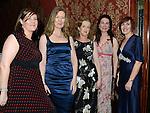 Ciara Winters, Aisling O'Gorman, Irene Kieran, Catherine Rogers and Mary Woods pictured at the Cystic Fibrosis gala ball in the Grove Hotel Dunleer. Photo:Colin Bell/pressphotos.ie