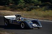 Mark Donohue, winner of this 1968 Bridgehampton Can-Am, in Roger Penske's McLaren M8B-Chevy.