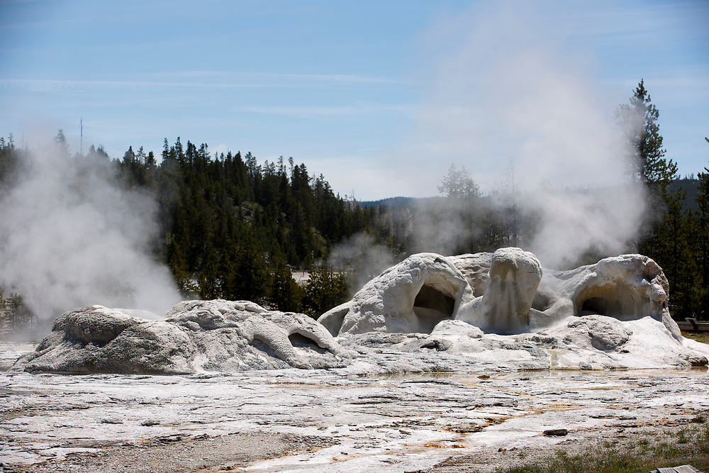 Grotto Geyser is pictured in the Upper Geyser Basin in Yellowstone National Park, Wyoming on Tuesday, May 23, 2017. (Photo by James Brosher)