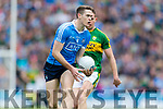 Kerry in action against Brian Fenton Dublin at the National League Final in Croke Park on Sunday.