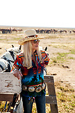USA, Nevada, Wells, Founder Madeleine Pickens walks around the her 900 square mile property in NE Nevada where Mustang Monument, A sustainable luxury eco friendly resort and preserve for wild horses resides, Saving America's Mustangs Foundation