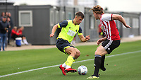 Oliver Dyson of Huddersfield Town in action during Brentford B vs Huddersfield Town Under-23, Friendly Match Football at Brentford FC Training Ground, Jersey Road on 12th September 2018