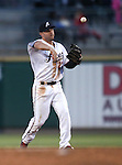 Reno Aces' Jamie Romak makes a play against the Albuquerque Isotopes in Reno, Nev., on Saturday, April 18, 2015. The Isotopes won 9-4. <br /> Photo by Cathleen Allison