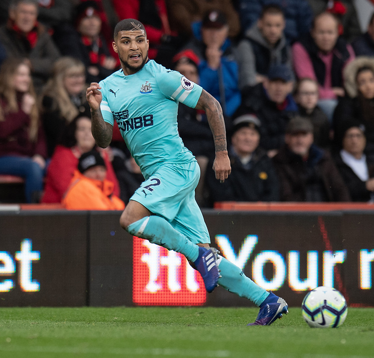 Newcastle United's DeAndre Yedlin<br /> <br /> Photographer David Horton/CameraSport<br /> <br /> The Premier League - Bournemouth v Newcastle United - Saturday 16th March 2019 - Vitality Stadium - Bournemouth<br /> <br /> World Copyright © 2019 CameraSport. All rights reserved. 43 Linden Ave. Countesthorpe. Leicester. England. LE8 5PG - Tel: +44 (0) 116 277 4147 - admin@camerasport.com - www.camerasport.com