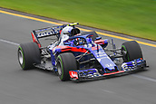 24th March 2018, Melbourne Grand Prix Circuit, Melbourne, Australia; Melbourne Formula One Grand Prix, qualifying; Pierre Gasly of France and Scuderia Toro Rosso driving the (10) Scuderia Toro Rosso STR13 Honda