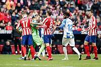 26th January 2020; Wanda Metropolitano Stadium, Madrid, Spain; La Liga Football, Atletico de Madrid versus Leganes; Tempers flare as the game gets physical