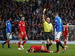 05.12.2018 Rangers v Aberdeen: Kyle Lafferty booked
