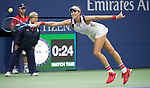 September 3,2017:   Garbine Muguruza (ESP) loses to Petra Kvitova (CZE) 7-6, 6-3, at the US Open being played at Billy Jean King Ntional Tennis Center in Flushing, Queens, New York.  ©Leslie Billman/EQ