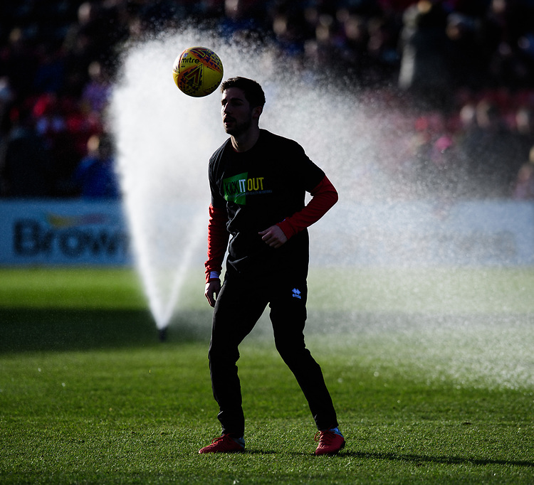 Lincoln City's Tom Pett during the pre-match warm-up<br /> <br /> Photographer Chris Vaughan/CameraSport<br /> <br /> The EFL Sky Bet League Two - Lincoln City v Northampton Town - Saturday 9th February 2019 - Sincil Bank - Lincoln<br /> <br /> World Copyright &copy; 2019 CameraSport. All rights reserved. 43 Linden Ave. Countesthorpe. Leicester. England. LE8 5PG - Tel: +44 (0) 116 277 4147 - admin@camerasport.com - www.camerasport.com