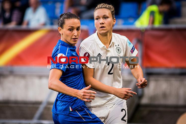21.07.2017, Koenig Willem II Stadion , Tilburg, NLD, Tilburg, UEFA Women's Euro 2017, Deutschland (GER) vs Italien (ITA), <br /> <br /> im Bild | picture shows<br /> Josephine Henning (Deutschland #2)| (Germany #2) gegen Ilaria Mauro (Italien #9) | (Italy #9), <br /> <br /> Foto © nordphoto / Rauch