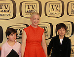 "Kelly Coffield Park and her kids at the 10th Anniversary of the TV Land Awards on April 14, 2012 to honor shows ""Murphy Brown"", ""Laverne & Shirley"", ""Pee-Wee's Playhouse"", ""In Loving Color"" and ""One Day At A Time"" and Aretha Franklin at the Lexington Armory, New York City, New York. (Photo by Sue Coflin/Max Photos)"
