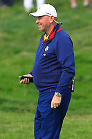 Thomas Bjorn (Captain Team Europe) on the 4th fairway during the Friday Foursomes at the Ryder Cup, Le Golf National, Ile-de-France, France. 28/09/2018.<br /> Picture Thos Caffrey / Golffile.ie<br /> <br /> All photo usage must carry mandatory copyright credit (© Golffile | Thos Caffrey)