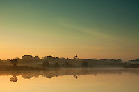 Dawn light over Ryat Linn Reservoir, Dams to Darnley Country Park, Barrhead, East Renfrewshire