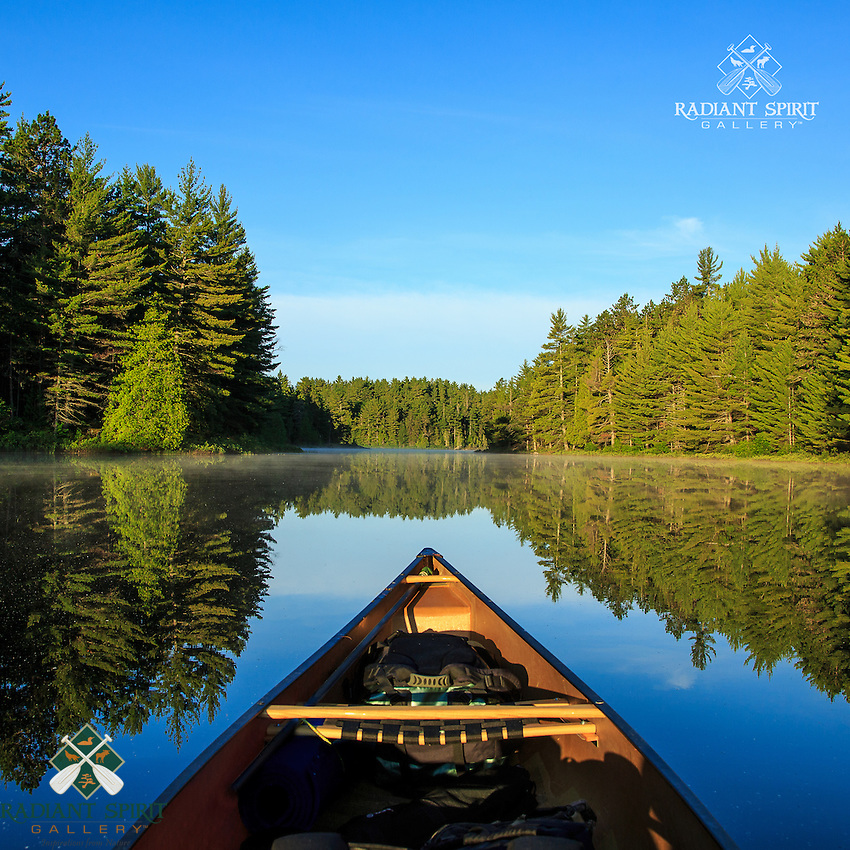 &quot;Tranquil Morning Paddle&quot;<br /> One of life's simple pleasures is a serene morning paddle surrounded by a forest bursting with cheerful bird song.<br /> ~ Day 99 of Inspired by Wilderness: A Four Season Solo Canoe Journey