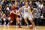 17 November 2013: Duke's Tricia Liston (32) and Alabama's Nikki Hegstetter (13). The Duke University Blue Devils played the University of Alabama Crimson Tide at Cameron Indoor Stadium in Durham, North Carolina in a 2013-14 NCAA Division I Women's Basketball game. Duke won the game 92-57.
