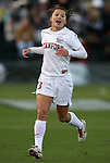 04 December 2009: Stanford's Ali Riley. The Stanford University Cardinal defeated the University of California Los Angeles Bruins 2-1 in sudden victory overtime at the Aggie Soccer Complex in College Station, Texas in an NCAA Division I Women's College Cup Semifinal game.