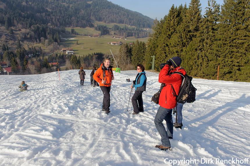 Skipiste bei Alpe Bl&auml;sse bei Ofterschwang im Allg&auml;u, Bayern, Deutschland<br /> piste near Alpe Bl&auml;sse, Ofterschwang. Bavaria, Germany