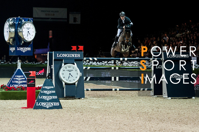 Scott Brash of United Kingdom rides Hello M'Lady at the Longines Grand Prix during the Longines Hong Kong Masters 2015 at the AsiaWorld Expo on 15 February 2015 in Hong Kong, China. Photo by Xaume Olleros / Power Sport Images