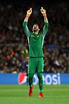UEFA Champions League 2017/2018.<br /> Quarter-finals 1st leg.<br /> FC Barcelona vs AS Roma: 4-1.<br /> Alisson Becker.