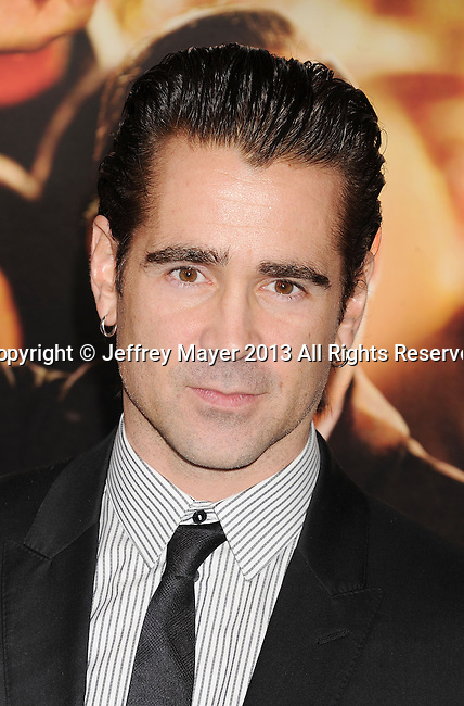 HOLLYWOOD, CA- NOVEMBER 07: Actor Colin Farrell arrives at AFI FEST 2013 Opening Night Gala premiere of 'Saving Mr. Banks' at TCL Chinese Theatre on November 7, 2013 in Hollywood, California.