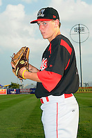 Batavia Muckdogs pitcher Seth Blair (19) before game against the Brooklyn Cyclones at MCU Park in Brooklyn, NY August 4, 2010. Cyclones won 4-0.  Photo By Tomasso DeRosa/ Four Seam Images