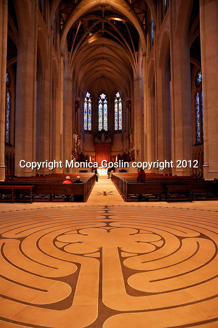 Grace Cathedral interior in San Francisco, California