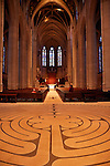 Grace Cathedral interior in San Francisco, California