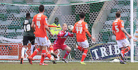 Luton Town keeper Jonathan Mitchell holds onto the ball during the Sky Bet League 2 match between Plymouth Argyle and Luton Town at Home Park, Plymouth, England on 19 March 2016. Photo by Liam Smith.