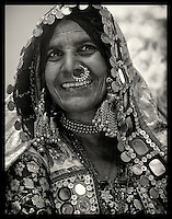 Lambani Gypsy Tribals, forest dwellers, now settled in 30-home hamlets in rural Karnataka, India. Related to the Rabaris gypsies of Kutch, Gujarat.