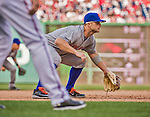 6 April 2015: New York Mets third baseman David Wright in action during the Season Opening Game against the Washington Nationals at Nationals Park in Washington, DC. The Mets rallied to defeat the Nationals 3-1 in their first meeting of the 2015 MLB season. Mandatory Credit: Ed Wolfstein Photo *** RAW (NEF) Image File Available ***