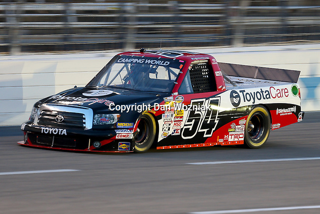 Camping World Truck Series driver Darrell Wallace Jr. (54) in action during the NCWTS Winstar World Casino 400 race at Texas Motor Speedway in Fort Worth,Texas.