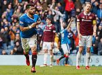 22.04.2018 Rangers v Hearts: Daniel Candeias celebrates his goal