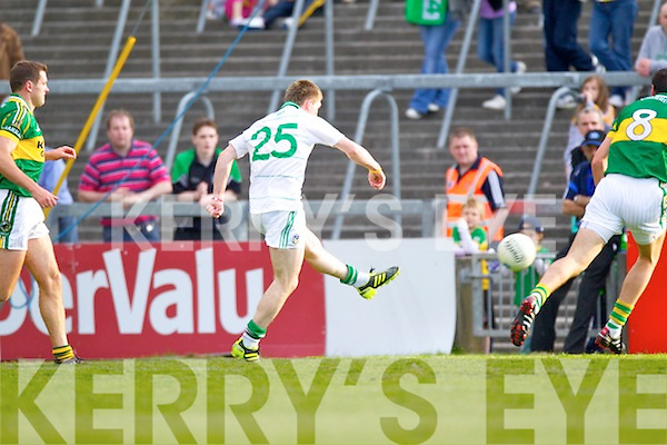 Limerick's Seamus O'Carroll scores their third goal in the Muster Senior Semi final held in The Gaelic Grounds last Saturday evening.