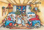 Interlitho, CHRISTMAS CHILDREN, WEIHNACHTEN KINDER, NAVIDAD NIÑOS, paintings+++++,KL6038,#xk# vintage,retro ,angels