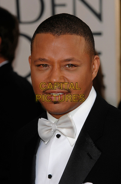 TERRENCE HOWARD.Red Carpet Arrivals - 64th Annual Golden Globe Awards, Beverly Hills HIlton, Beverly Hills, California, USA, January 15th 2007.globes headshot portrait white bow tie mustache facial hair .CAP/PL.©Phil Loftus/Capital Pictures