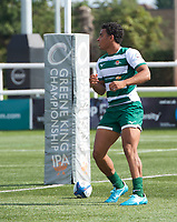 Reon Joseph of Ealing Trailfinders during the 2019/20 Pre Season Friendly match between Ealing Trailfinders and Bishop's Stortford at Castle Bar , West Ealing , England  on 24 August 2019. Photo by Alan  Stanford / PRiME Media images