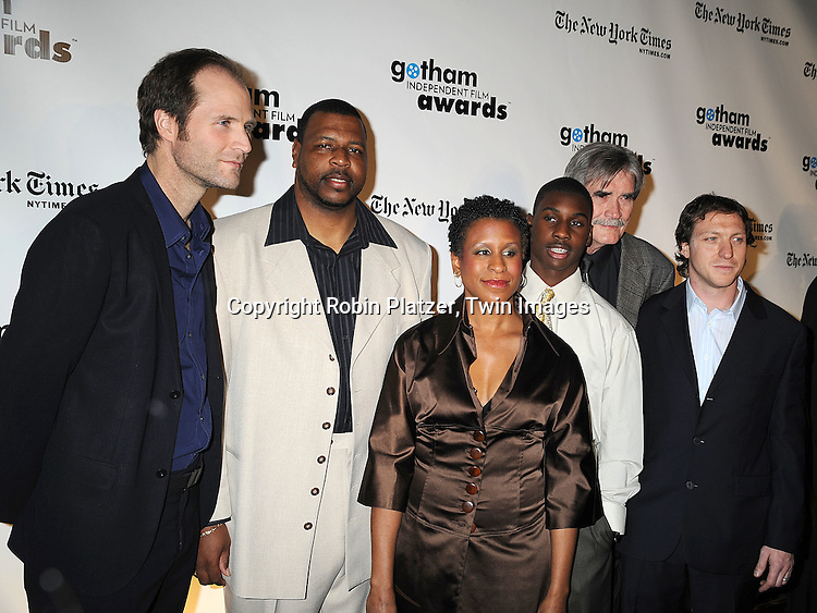 """cast of """"Ballast"""" with Michelle Byrd..posing for photographers at the 18th Annual Gotham Independent Film Awards at Cipriani Wall Street on December 2, 2008 in New York. ....Robin Platzer, Twin Images"""