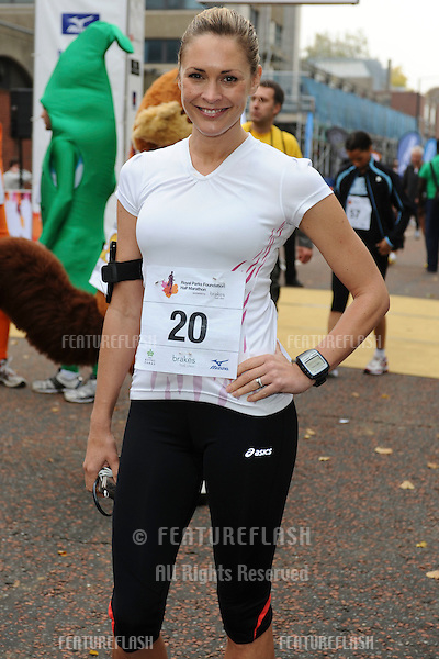Jenni Falconer take part in the Royal Parks Half Marathon, London.. 10/10/2010  Picture by: Steve Vas / Featureflash