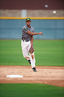 Osiris Johnson (3) of Encinal High School in Alameda, California during the Under Armour All-American Pre-Season Tournament presented by Baseball Factory on January 14, 2017 at Sloan Park in Mesa, Arizona.  (Mike Janes/MJP/Four Seam Images)