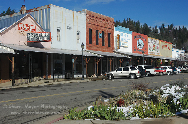 Storefronts in downtown Colfax