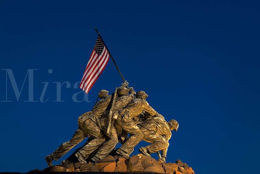 Marine Corps War Memorial, also Iwo Jima Memorial, Arlington Ridge Park, Arlington, Virginia, USA