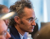 Palantir Technologies CEO Alex Carp is seen at a meeting of technology leaders in the Trump Organization conference room at Trump Tower in New York, NY, USA on December 14, 2016. <br /> Credit: Albin Lohr-Jones / Pool via CNP